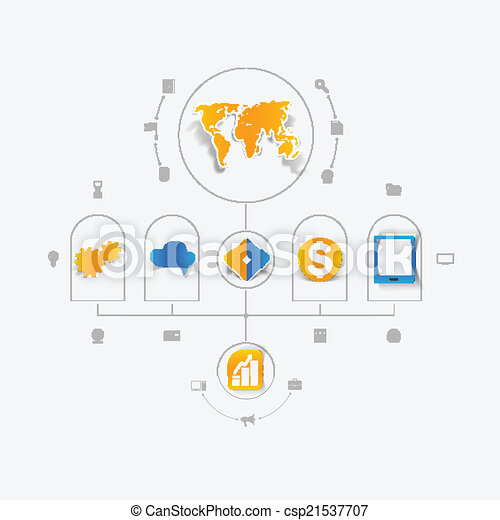 Set of business icons - csp21537707