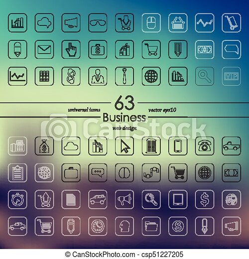 Set of business icons - csp51227205
