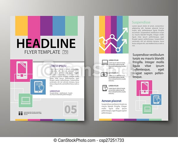 Set of business magazine cover flyer brochure flat design templates set of business magazine cover flyer brochure flat design templates csp27251733 cheaphphosting Gallery
