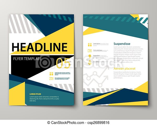 Set of business magazine cover flyer brochure flat design templates set of business magazine cover flyer brochure flat design templates csp26899816 flashek Choice Image