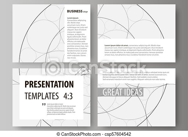 Set Of Business Templates For Presentation Slides Easy Editable Abstract Vector Layouts In Flat