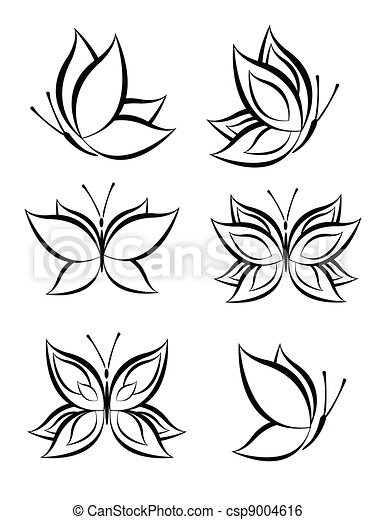 set of Butterfly Vector - csp9004616