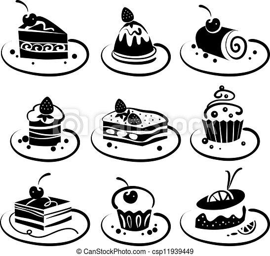 Set of cakes  - csp11939449