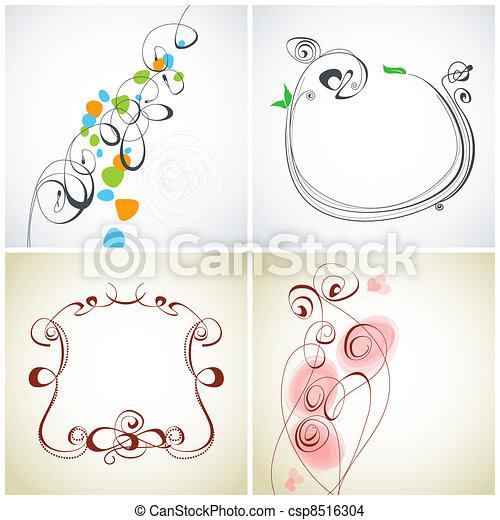 Set of calligraphic decoration - csp8516304