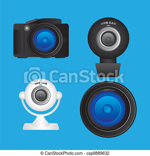 Set of cameras  - csp9889632