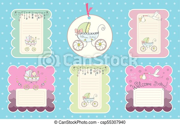 set of cards for newborn baby set of cards labels for newborn baby