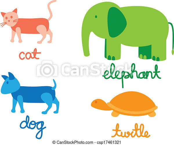 set of cartoon animal - csp17461321