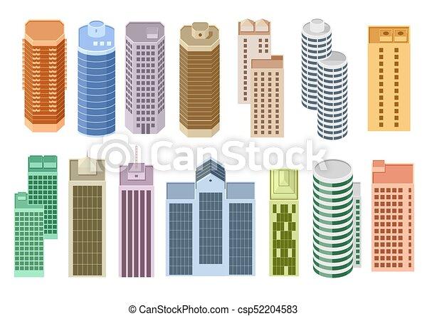 Set of cartoon skyscrapers - csp52204583
