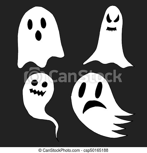 Set of cartoon spooky scary ghosts character hand drawn ghosts for set of cartoon spooky scary ghosts character hand drawn ghosts for halloween celebration publicscrutiny Images