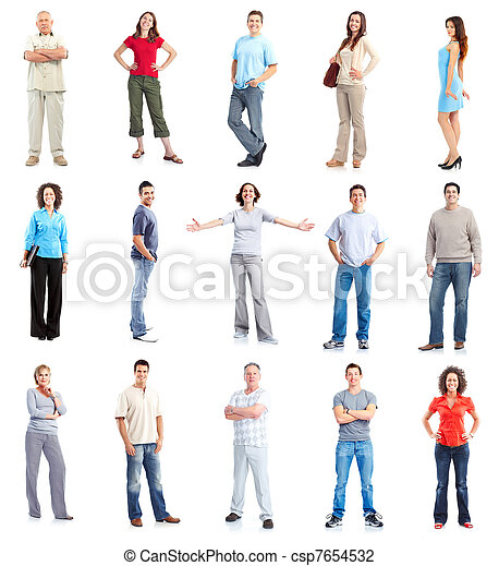 Set of casual people group. - csp7654532