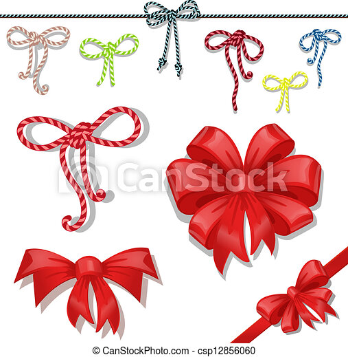 Set of celebratory bows - csp12856060