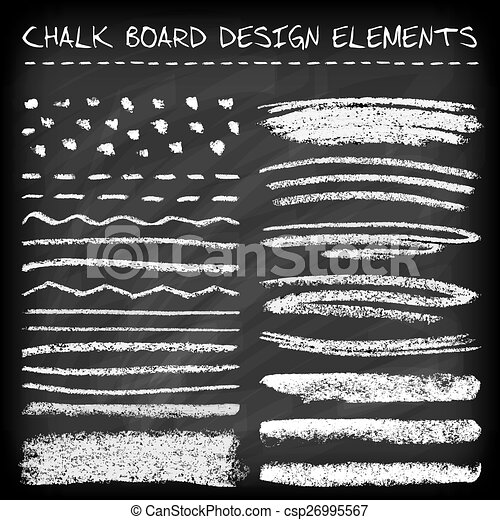 set of chalk strokes set of chalk strokes curved lines banners