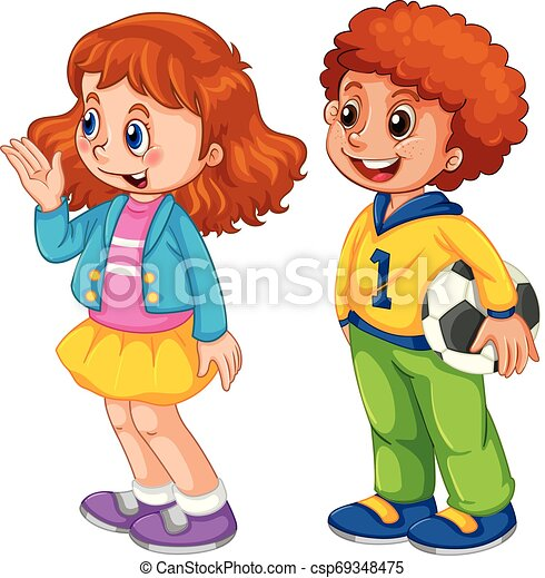 Set of children character - csp69348475