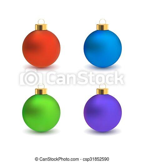 Colorful Christmas Balls.Set Of Christmas Balls