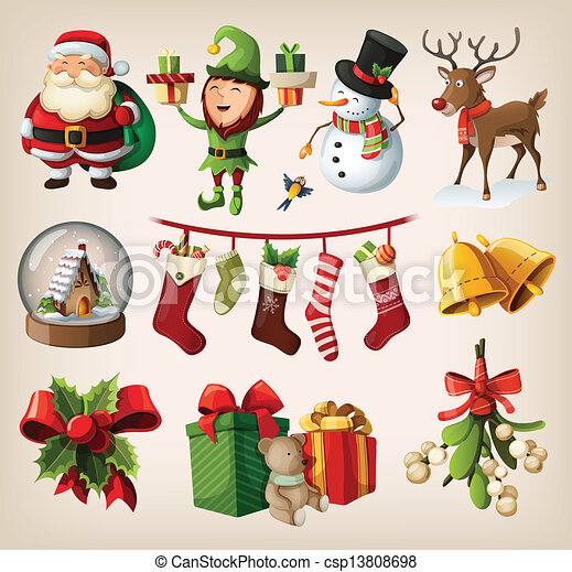 Set of christmas characters - csp13808698