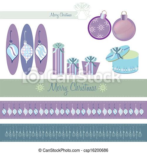 Set of Christmas Decorations - csp16200686