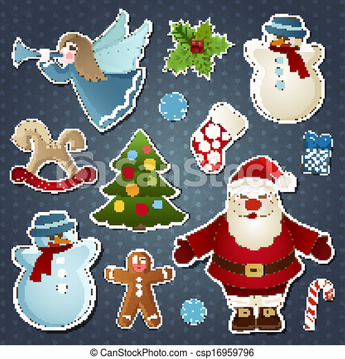 Set of Christmas elements - csp16959796