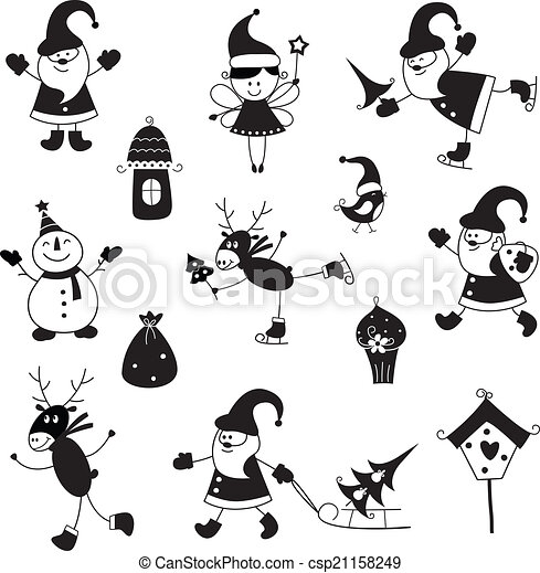 Set of Christmas icons - csp21158249