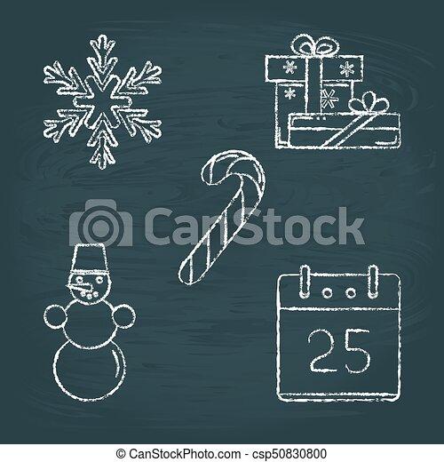 Christmas gift clip art chalkboard