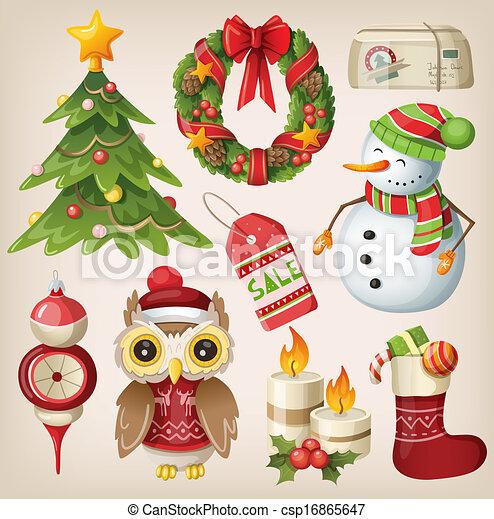 Christmas Items.Set Of Christmas Items