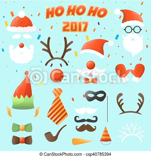 0fcaf0bf80d Set of christmas party elements. Set of christmas party vector ...