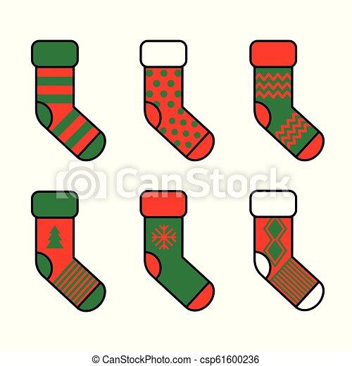 Christmas Vectors.Set Of Christmas Socks