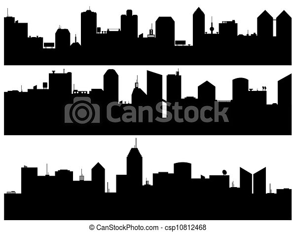Set of cityscape illustrated - csp10812468
