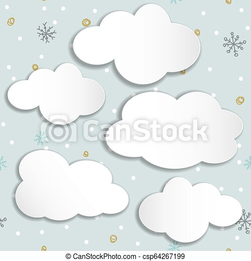 set of clouds on a winter background. - csp64267199