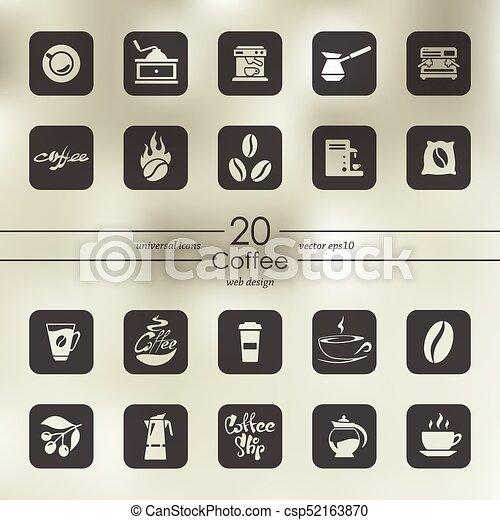 Set of coffee icons - csp52163870