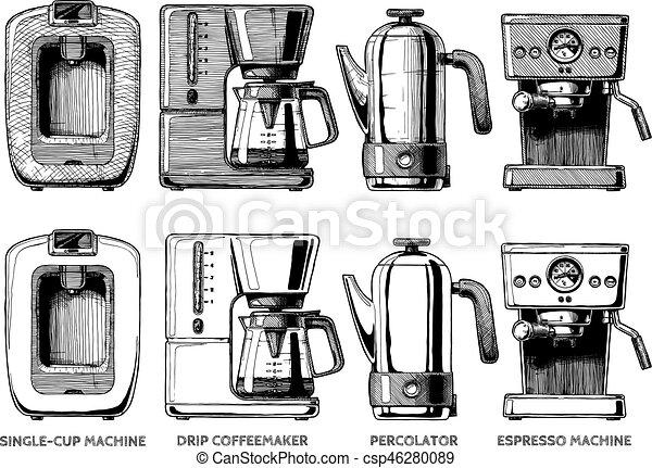 set of coffee machines - csp46280089