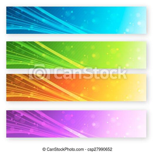 Set of color banner - csp27990652