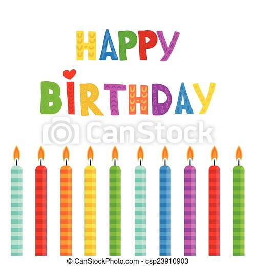 Set of color Birthday candles - csp23910903