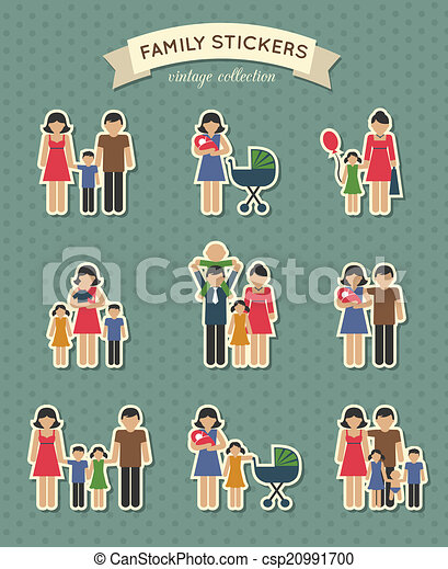 Set of color family icons - csp20991700