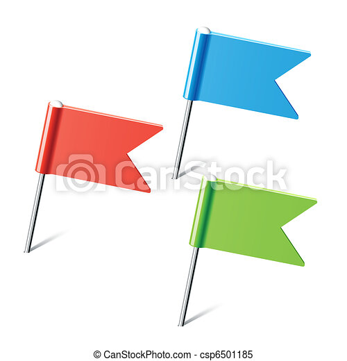 Set of color flag pins - csp6501185