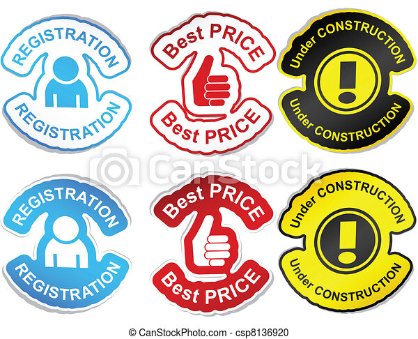 Set of color labels. - csp8136920