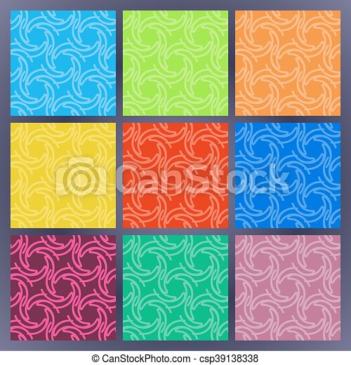 Set of color seamless patterns - csp39138338