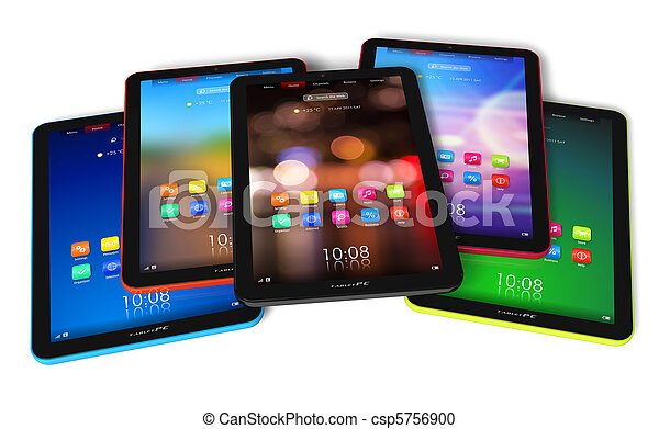 Set of color tablet computers - csp5756900