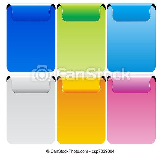 Set Of Color Vector Banner - csp7839804