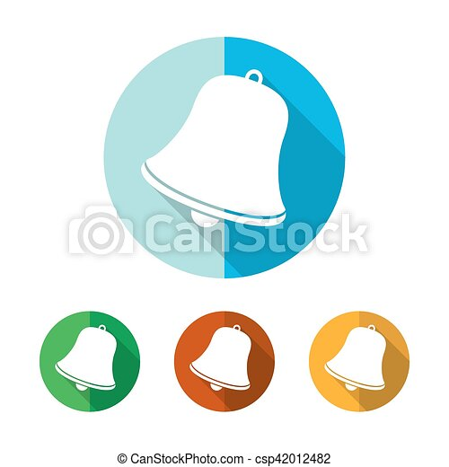 Set of colored handbell icons. Vector illustration. - csp42012482