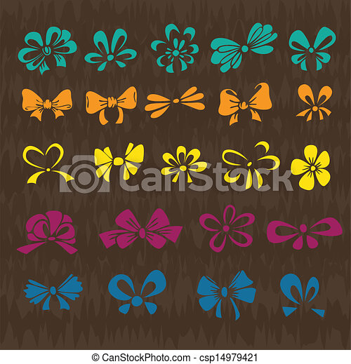 set of colored ribbons - csp14979421