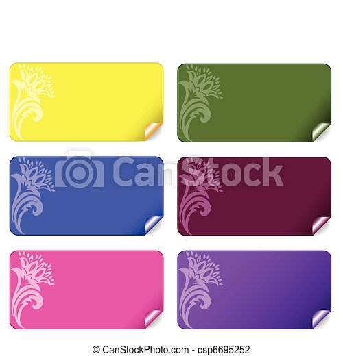 set of colored stickers - csp6695252