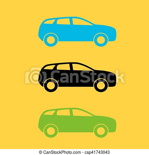 set of colorful car silhouette vector illustration eps10 eps rh canstockphoto com old car silhouette vector car silhouette vector free download