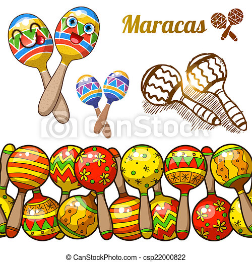 Set of colorful fun maracases - csp22000822