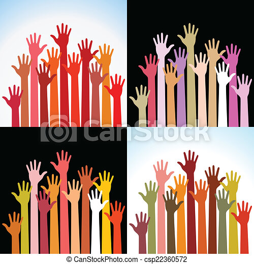 Set of colorful up hands - csp22360572