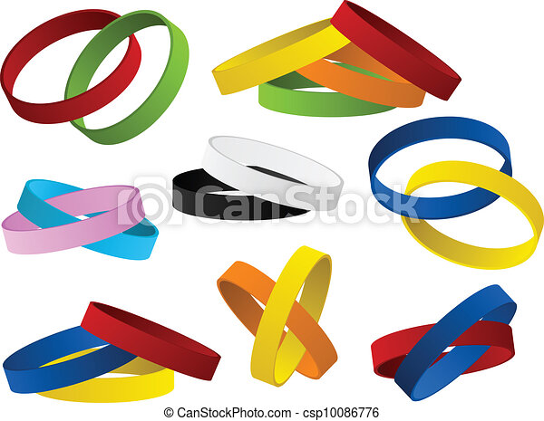 Set of colorful wristbands - csp10086776