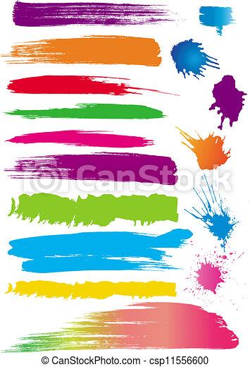 Set of colour line brushes - csp11556600