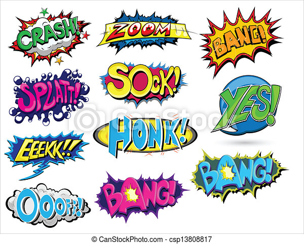Set of Comic Expression Vector - csp13808817