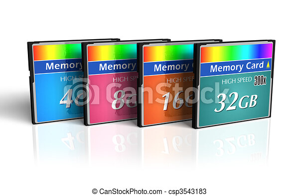 Set of CompactFlash memory cards  - csp3543183