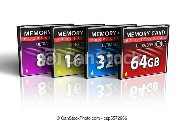 Set of CompactFlash memory cards - csp5572966