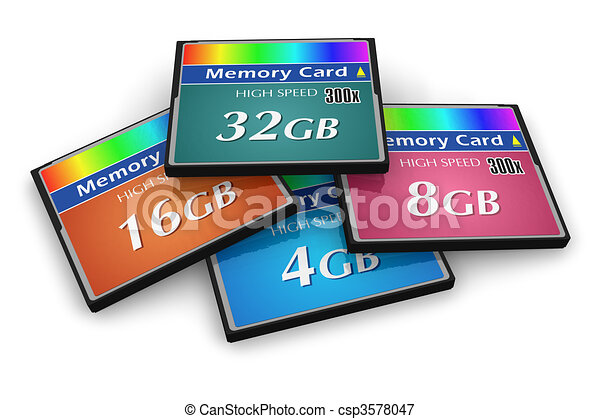 Set of CompactFlash memory cards  - csp3578047